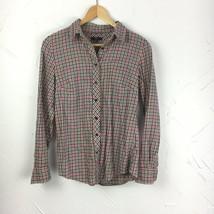 Gap Size XS Shirt Plaid Top Buffalo Check Utility Button Down Blouse Womens  - $12.16