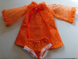 1969 IDEAL CRISSY ORANGE LACE DRESS  & PANTIES Crisp Factory Overstock ... - $24.26