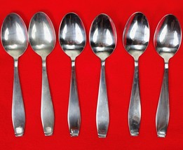 6X Teaspoons Spoons International Silver Cirque Stainless Glossy Flatwar... - $57.42