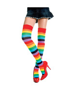 Women's Pantyhose, Color Striped High hosiery - $22.99