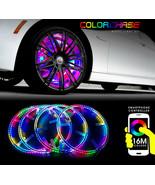 "Color Chasing 17"" RGB LED Wheel Rings Rim Multi color Light Kit with Blu... - $231.07"