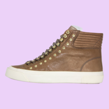 DIESEL S-Mustave MC Womens Leather Fashion Sneakers Mushroom Size 8.5 - $103.94