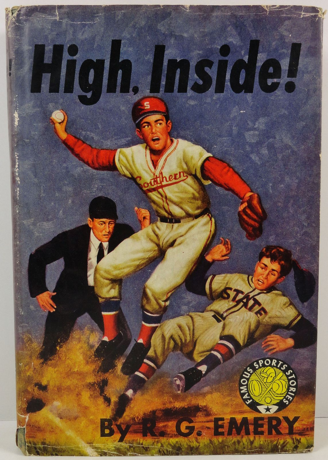 Primary image for High, Inside! by R. G. Emery 1948 HCDJ Famous Sports Stories