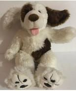 "Build A Bear Cocker Spaniel Dog Barks White Brown Spots 17"" Plush Poseab... - $22.99"