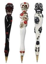 Ebros Gift Colorful Dias De Los Muertos Day Of The Dead Sugar Skull Pen ... - €20,38 EUR