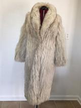 Vintage Full Length Natural Blue Silver Fox Fur Coat NM Evans Furs Chicago - $600.00