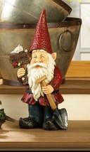 Garden Gnome Holding Welcome Sign & Shovel w/ Solar Bird Figurine Statue - $45.49