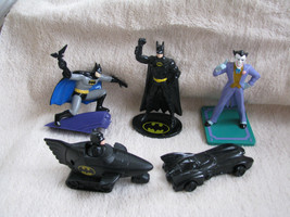 5 BATMAN RETURNS Figures Joker Batarang Batmobile APPLAUSE DC COMICS 199... - $19.99