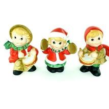 Christmas Drummer Boy Vintage Music Homco Boy Girl Set 3 Ceramic Figures MI595 - $19.59