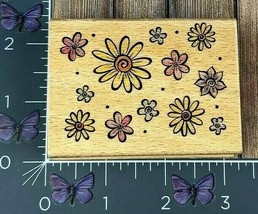 Stampcraft Flower Pattern Background Rubber Stamp 440H21 Wood #AG61 - $2.72