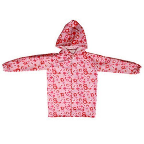 Bears Cute Baby Rain Jacket Infant Raincoat Toddler Rain Wear PINK M