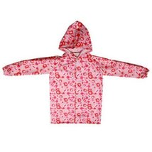 Bears Cute Baby Rain Jacket Infant Raincoat Toddler Rain Wear PINK M