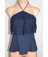 NWT Michael Kors Swimsuit Tankini Top Size M Bandini Crochet Halter New ... - $30.85