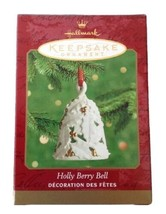 VTG Hallmark Keepsake Christmas Ornament - 2000 Holly Berry Bell Porcela... - $11.14