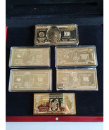Extremely Rare! Uncle Scrooge Duckburg LE Gold Banknote Bars The Complet... - $1,188.00