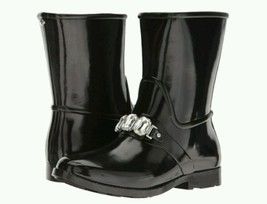 Michael Kors Leslie Rainboot Black Size 8 EU 38.5 - $65.00