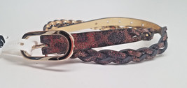 "CLEARANCE!! Nine West BELT L Large Brown/Gold REVERSIBLE 36""-40"" Snake - $7.91"