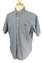 Ralph Lauren Polo Men's Classic Fit Short Sleeve Blue Check Shirt XL - $26.72