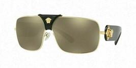 Versace VE2207QA 1002/5 Squared Baroque Gold 100% AUTHENTIC - $139.99