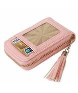 Womens Credit Card Holder RFID Blocking Leather Zipper Accordion Tassels... - $10.15