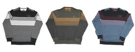 Point Zero Black Label Men's Striped Sweater Long Sleeve Semi-Fit 5713412