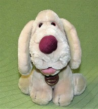 Vintage WRINKLES 1981 Ganz Puppy Dog Plush Stuffed Tan Sitting Collar Tag Number - $12.44