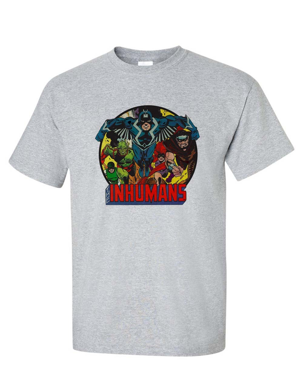 The Inhumans T-shirt Marvel Comics superhero cotton blend graphic printed tee
