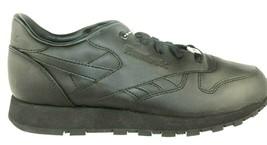 Nib Reebok Classic Cl Leather Ltd Ii Kids Casual Shoes BLACK/BLACK 71-145675 - $49.99