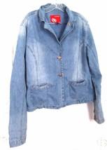 Sz XL - Eckored Faded Blue Jean Denim Jacket - $34.64