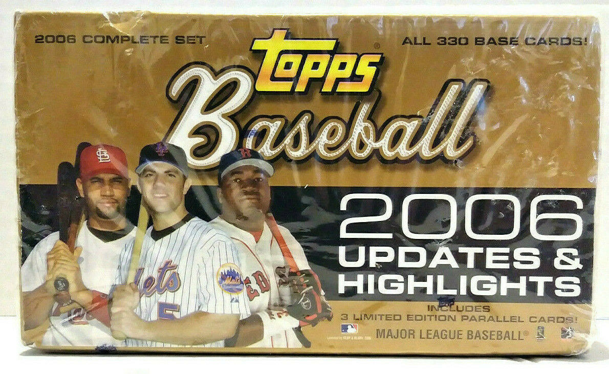 Primary image for Topps Baseball 2006 Updates & Highlights Hobby Box All 330 Base Cards New Sealed