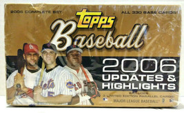 Topps Baseball 2006 Updates & Highlights Hobby Box All 330 Base Cards Ne... - $59.99