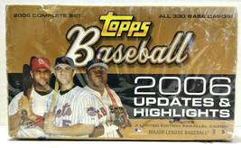 Topps Baseball 2006 Updates & Highlights Hobby Box All 330 Base Cards New Sealed - $59.99