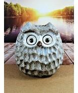 "Ceramic Clay Owl Spring Inspirations Statuary Hollow 6"" High 2013 Hand P... - $19.79"