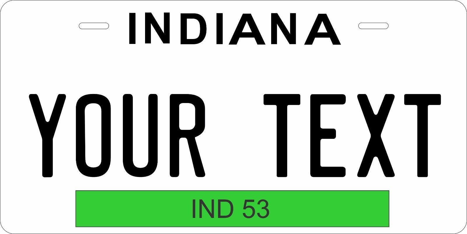 Indiana 1965 License Plate Personalized Custom Car Bike Motorcycle Moped