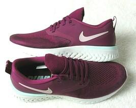 Nike Womens Odyssey React 2 Flyknit Running Shoes Raspberry Plum Chalk NIB  - $57.79
