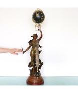 MYSTERY Mantel TOP Clock MOREAU Swinging MOTION ANTIQUE French 39 Inch! ... - $8,995.00