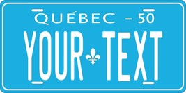 Quebec 1950 License Plate Personalized Custom Auto Bike Motorcycle Moped Tag - $10.99+