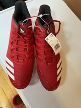 Adidas Mens Icon Bounce Red Metal Baseball Cleat Spike Low CG5242 Size 12.5 - $14.26