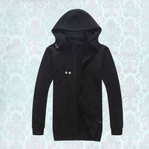 Tokyo Ghoul Cosplay Costume Kaneki Ken Black Hood Cotton Coat - $40.19