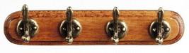 "Dollhouse Miniature Wall Coat Rack 2¼"" Long  with 4 Hooks 1:12 Scale - $8.49"