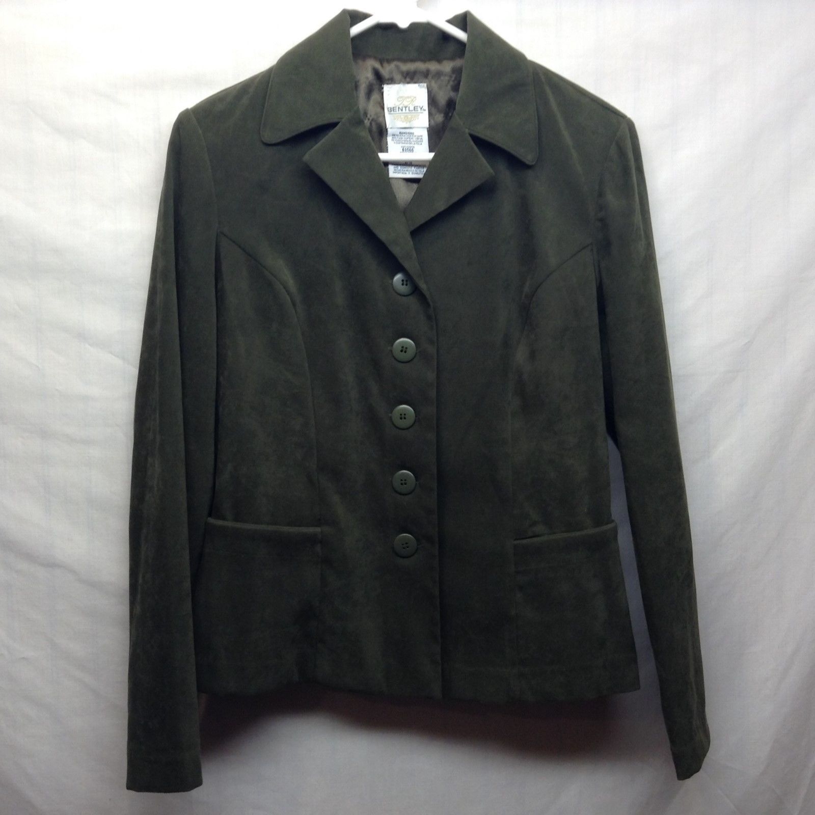 Bentley Forest Green Skirt Suit Sz 9/10