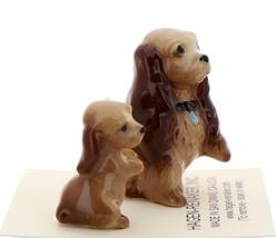 Hagen-Renaker Miniature Ceramic Dog Figurine Don Winton Cocker Mama and Pup image 4