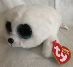 "Ty Beanie Boos ~ ICY the White Baby Seal 6"" MWMT New Plush Blue Sparkle ... - $9.89"