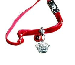 PANDA SUPERSTORE Soft Material with Bell & Crown Pendant Collar for Cat, Dog(Fit