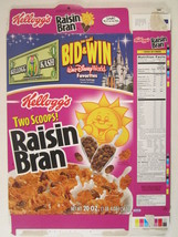 MT KELLOG'S Cereal Box 2003 RAISIN BRAN 20oz WALT DISNEY WORLD [Y156C2o] - $11.52