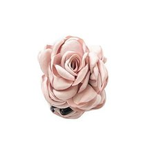 Fashion Verisimilitude ROSE Jaw Clip Hair Styling Claws, 3.1 inches, PEACH