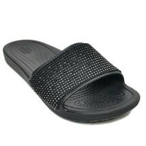 Crocs Women's Sloane Ombre Diamante Slide Sandal, Black, 4 M US 205605 NEW - $20.53