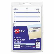 Print Or Write File Folder Labels, 11/16 X 3 7/16, White/dark Blue Bar, ... - $6.79