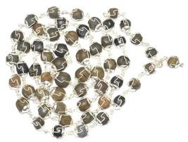 Rare Laxmi Narayan Shaligram Rosary In Pure Silver – 55 pc - $700.00