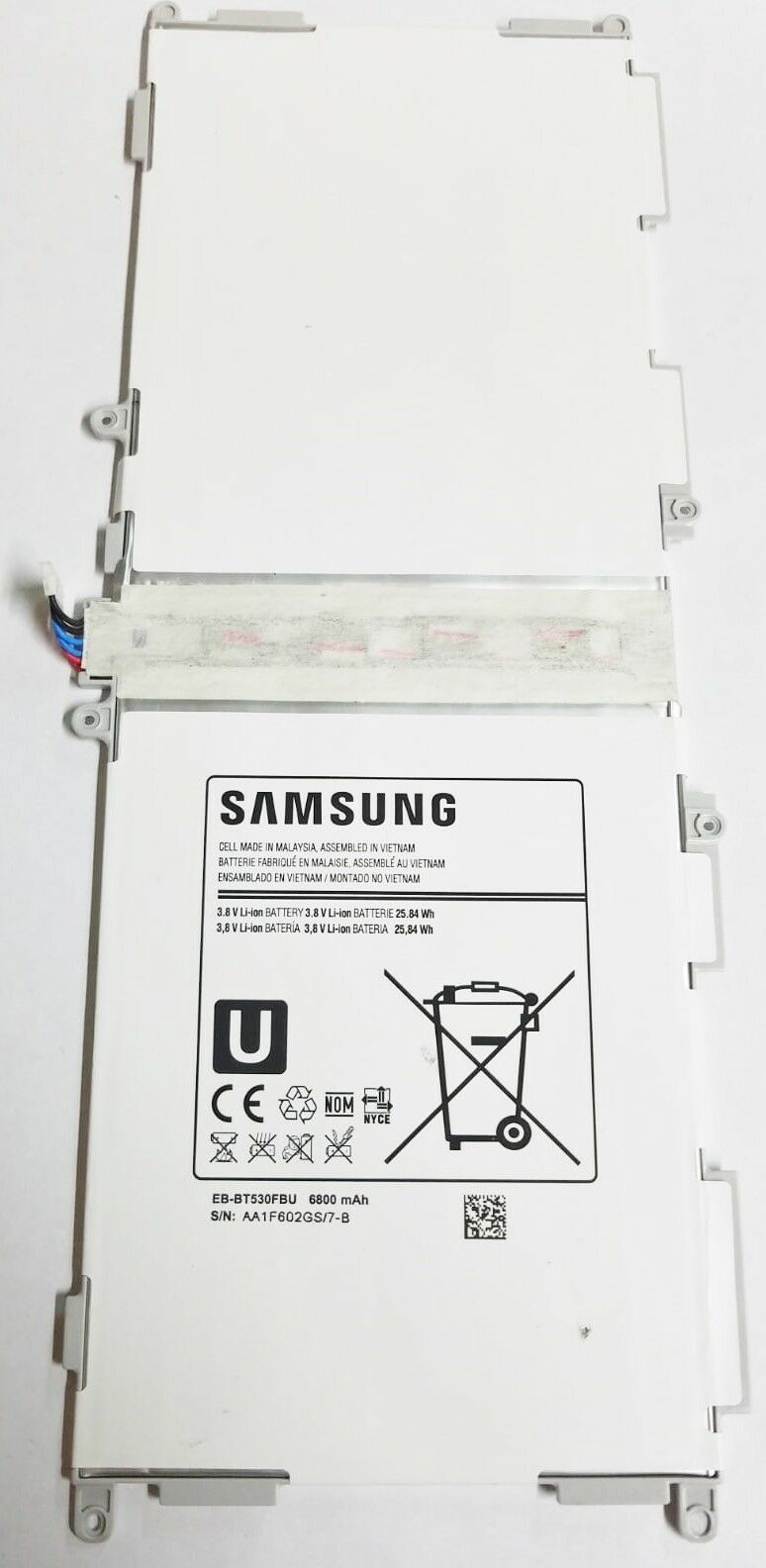 "Primary image for OEM Original Samsung Battery Galaxy EB-BT530FBU Tab 4 10.1"" SM-T537 6800mAh"